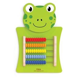 Viga Toys - Väggspel Groda Abacus 55 Cm Grön Trä