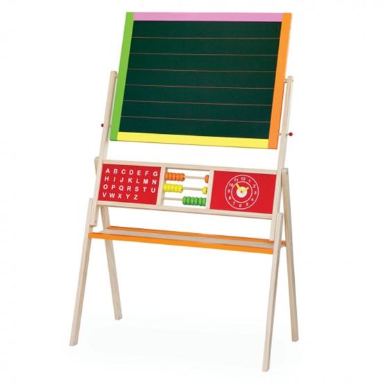 Viga Toys - Svarta Tavlan And Magnetic Vitboard Junior 155 Cm Wood