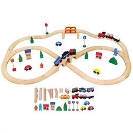 Viga Toys - Tågbana Med Tillbehör