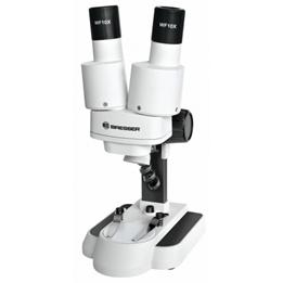 Bresser - Mikroskop Biolux Icd 20X 25,8 Cm Aluminium Vit/Svart