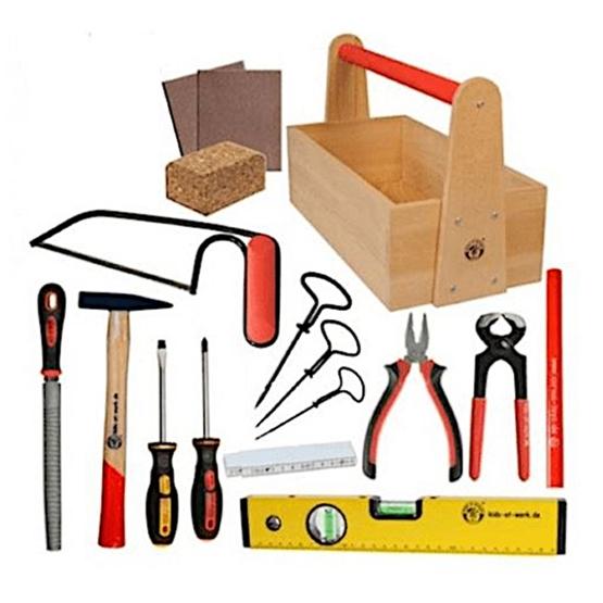Kids At Work - Tool Set Junior Wood/Steel 16-Piece