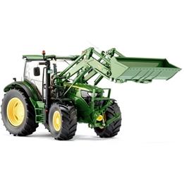 Wiking - Traktor John Deere 6125 Rwheel Loader 1:32 Grön