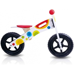 Amigo - Balanscykel - Loopfiets Tooky Toy Junior Vit/Multicolor