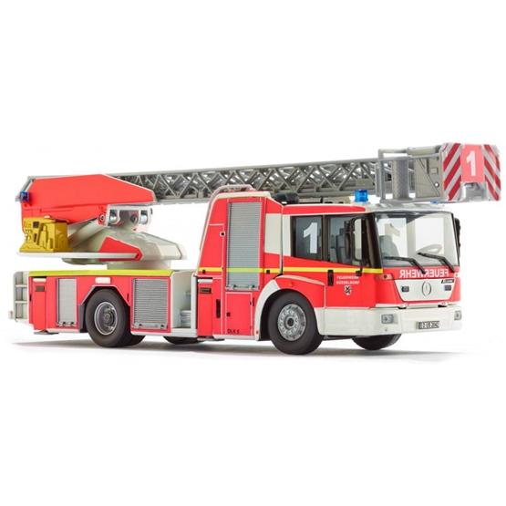 Wiking - Miniature Truck Mb Econic Fire Brigade Die-Cast Zinc 1:43 Röd