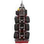 Wiking - Miniature Tipper 1Krampe Tridem Thl 30:32 Zinc Röd