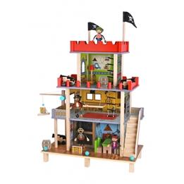 Tooky Toy - Piratslott Med Tillbehör