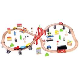Tooky Toy - Tågbana Stad Med Tillbehör