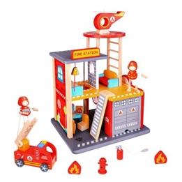 Tooky Toy - Brandstation Med Tillbehör 35 Cm