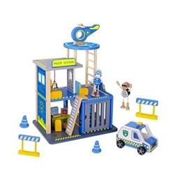 Tooky Toy - Polisstation Med Tillbehör 35 Cm