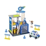 Tooky Toy - Play Set Police Station 35 Cm Wood Blå 14-Piece