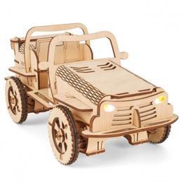 Ecobot - Trä Modell Construction 3D Rc Buggy 35 Cm 155 Delar