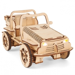 Ecobot - Trämodell Construction 3D Rc Buggy 154 Delar