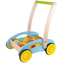 Tooky Toy - Gåbil Blå 33 Delar