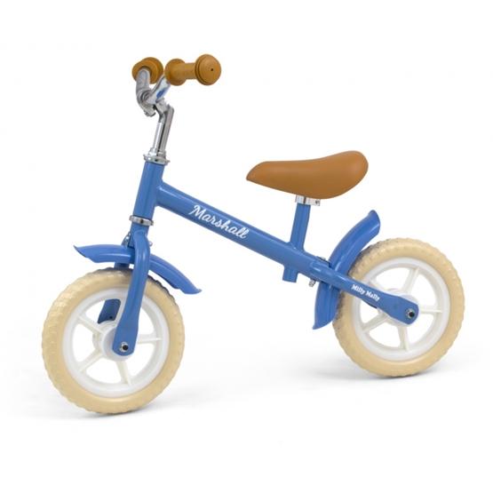 Milly Mally - Balanscykel - Loopfiets Junior Blå/Brun