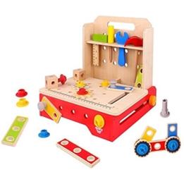 Tooky Toy - Arbetsbänk Fällbar 36 Delar