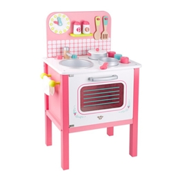 Tooky Toy - Leksakskök Med Tillbehör Rosa