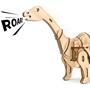 Robotime - 3D Model Construction Apatosaurus 40 Cm Wood Natural 79-Piece