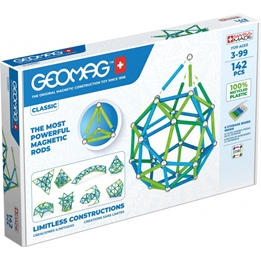 Geomag - Construction Set Classic Grön Line Junior 142-Piece