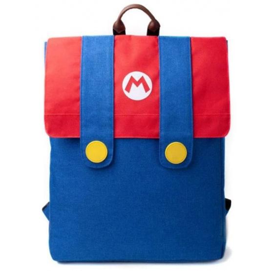 Nintendo - Ryggsäcks Set - Super Mario21 Liter Polyester Röd/Blå
