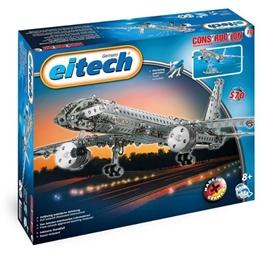 Eitech - Building Kit Airplane Steel Silver 570-Piece
