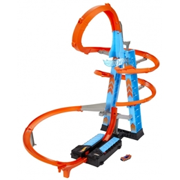 Hot Wheels - Racetrack Sky Crash Tower 61 Cm Blå/Orange