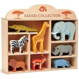 Tender Leaf Toys - Djur På Safari 9 Delar