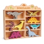 Tender Leaf Toys - Animal Set Dinosaur 28 X 38 Cm Wood 9-Piece