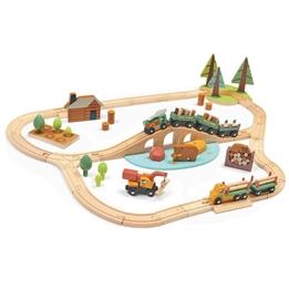 Tender Leaf Toys - Tågbana Med Tillbehör