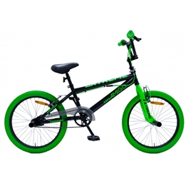 Amigo - BMX Cykel - Bmx Extreme 20 Tum Svart/Grön