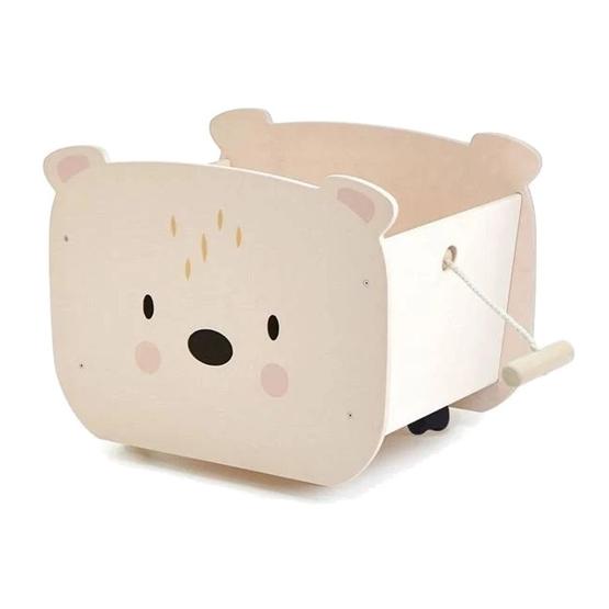Tender Leaf Toys - Vagn Docktillbehör Bear Cream/Vit