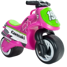 Injusa - Gåmotorcykel Kawasaki Rosa/Grön