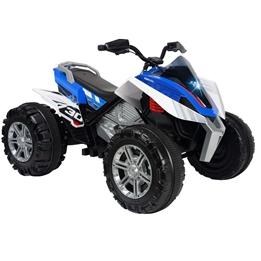 Injusa - Elmotorcykel Quad Rage12V 118 Cm Blå/Vit