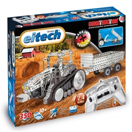 Eitech - Construction Set Steerable Tractor Steel Silver 354-Piece