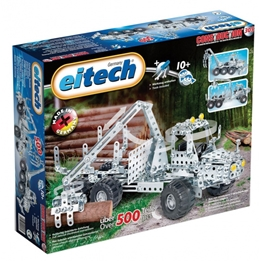 Eitech - Construction Kit Forestry Vehicles Steel Silver 502-Piece