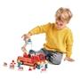 Tender Leaf Toys - Fire Truck 28 Cm Junior Wood Röd 4-Part