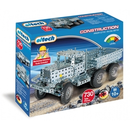 Eitech - Construction Set Large Truck Steel Silver 732-Piece