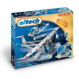 Eitech - Construction Kit Airplane / Helicopter Solar Steel 74-Piece