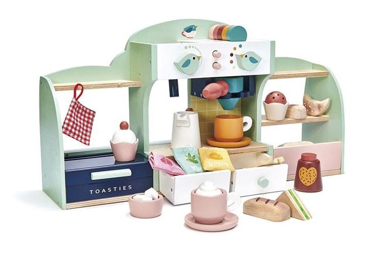 Tender Leaf Toys - Coffee House Junior 50 X 27 Cm Wood 2-Piece
