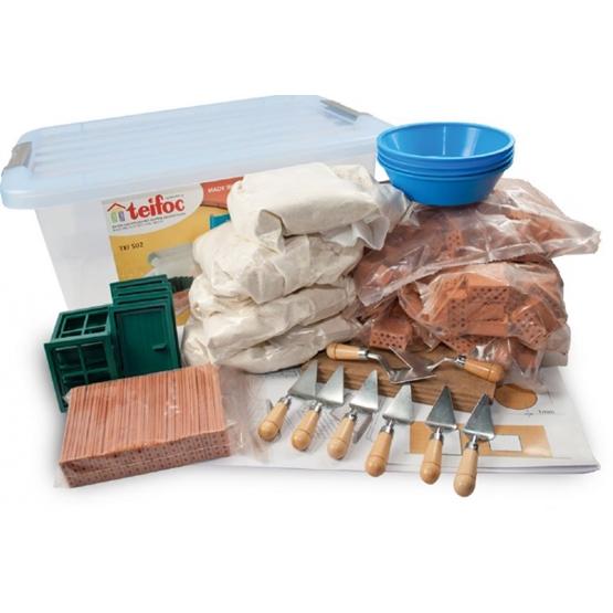 Teifoc - Construction Set Junior Stone/Wood Brun/Grön 720 Parts