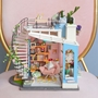 Robotime - Diy Dora'S Loft Kit Doll'S House 26 Cm Wood 3 Pieces