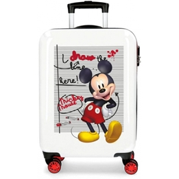 Disney - Resväska - Mickey Mouse Junior 33 Liter Abs 55 Cm Röd/Vit