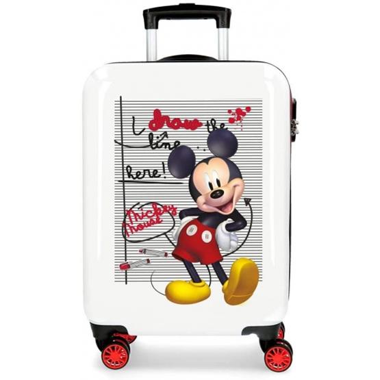 Disney - Resväska - Mickey Mouse Junior 70 Liter Abs Röd/Vit