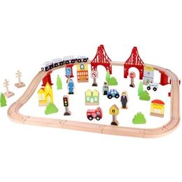 Tooky Toy - Tågbana Bro Med Tillbehör