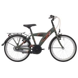 Bike Fun - Barncykel - Urban 24 Tum 3 Växlar Mörk Grön