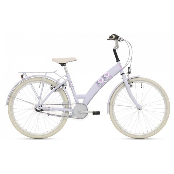 Bike Fun - Barncykel - Lots Of Love 26 Tum 3 Växlar Ljusblå