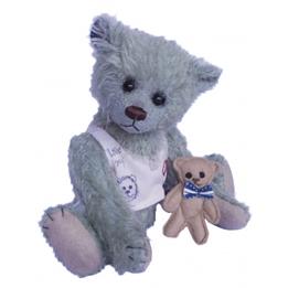 Clemens - Teddybjörn - Teddy Basti 22 Cm Isblå