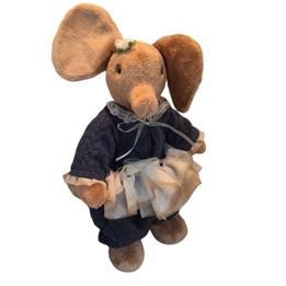 Clemens - Mjukisdjur Elefant Firlefant 30 Cm Brun/Blå