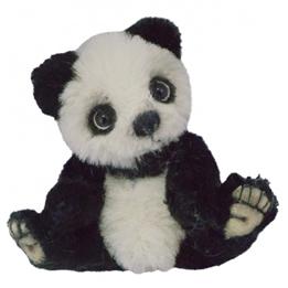 Clemens - Mjukisdjur Panda Hoshi 10 Cm Svart/Vit