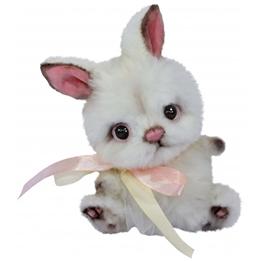 Clemens - Gosedjur Kanin Jule 15 Cm Vit/Rosa