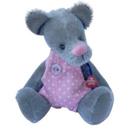Clemens - Mjukisdjur Mouse Bernice 13 Cm Grå